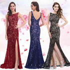 Ever Pretty Women's Black Long Party Formal Evening Slitted Prom Dresses 08859