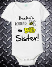 sister bodysuit new sis personalized custom one piece sibling t-shirt 12 18 24 2