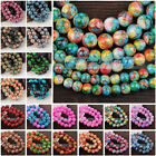 Внешний вид - Bulk Wholesale 6mm/8mm/10mm/12mm Charms Round Glass Loose Spacer Beads Findings
