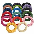 3M/5M/10M Real Leather Necklace Rope String Cord Findings 1/1.5/2/2.5/3mm