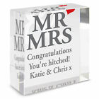 Personalised Mr & Mrs Medium Crystal Token