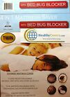 "SALE! BED BUG MATTRESS  PROTECTOR Fits 16"" ht ~ High Tensile Fabric Washable"