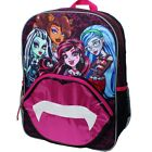 """MONSTER HIGH 16"""" Full-Size School Backpack w/ Optional Insulated Lunch Box NWT"""