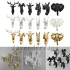 Animal Deer Stags Head Hook Wall Hanger Rack Holder Resin Home Decor