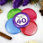 40th Birthday Party Badge - Button Pin Badge