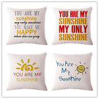American Word Printed Linen Cotton Cushion For Car Sofa Home Decorative Pillow