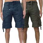 Mens Bellfield Cargo Shorts Designer Branded Casual Combat Pants Cotton Chinos