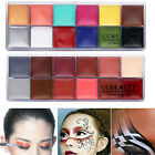 12 Colors Awesome Fun Face& Body Paint Gothic Holloween Party Costume Set Oil 3D