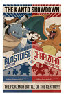 Pokemon Kanto Showdown Blastoise V Charizard Poster New - Maxi Size 36 x 24 Inch