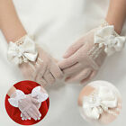 New Kids Cream Lace Pearl Fishnet Gloves Communion Wedding #A Flower Girl Party