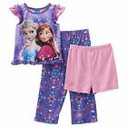 Disney Girls Pajama Set Frozen Elsa and Anna Sparkle in Snow Toddler size 4T NEW