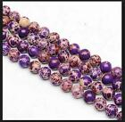 """0072 Natural 6,8,10mm purple Emperor Stone Round Beads 16"""""""
