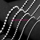"""New 1.5mm-10mm Stainless Steel Silver Men/Womens Necklace Bead Ball Chain 16-40"""""""