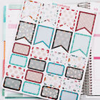 FLAG  BOX HALLOWEEN FUNKY SKULL FLOWER DOT Scrapbook Life Planner Stickers H12