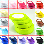 New 22 metres of Satin Ribbon 6mm 10mm 15mm 20mm 25mm 38mm Various Colour lot