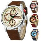 CURREN New Men Fashion Military Leather Sport Watch Waterproof Shock Resistant
