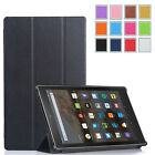 Folio Case Stand Leather Cover for Amazon Fire HD 10 Tablet (5th Generation)