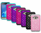For Samsung Galaxy Express 3 Case Diamond Bling Hybrid Protective Phone Cover