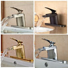 Bathroom Basin Sink Faucet Deck Mounted Mixer Tap With Cover Plate