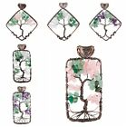 Wire Wrap Charms Pendant Tree Of Life Aventurine Gemstone Fit Necklaces Jewelry