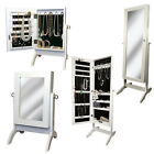 Jewelry Cabinet Bedroom Mirror Armoire Dressing Table Standing Organiser Storage