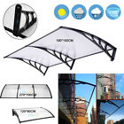 Outdoor Polycarbonate Front Door Window Awning Patio Cover Canopy Black 3 SIZE