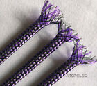 PURPLE Color Braided Soft PP Cotton Yarn + PET Expandable Sleeving 4mm/8mm/12mm