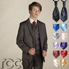 Boys Brown Suit & Cravat, Boys Wedding Suit, Boys Page Boy Outfit, Boys Suits