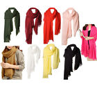 Ladies Pure Color Shawl Scarf Stole Wrap Long Large 200x70cm Warm