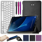 Folio Leather Case Stand for Samsung Galaxy Tab A 10.1 SM-T580N T585N w/keyboard