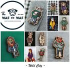 Brooch pin Wolf Bear Lion Raccoon Owl Deer Shark Unicorn Cat Horse Waf-Waf Wood