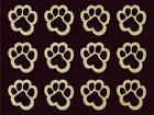 """12 pcs Tiger Paw Shape Cut Out 1.8"""" Tall Sanded Finish Natural Maple Hardwood"""