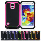 Fashion Hybrid Rugged Rubber Matte Hard Case Cover for Samsung Galaxy S5