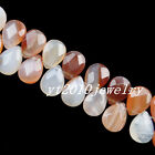 18x13x6mm 29Pcs Faceted Mixed Gemstone Teardrop loose bead x1006
