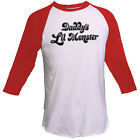 Hot Daddy's Lil Monster Baseball Style T-shirt Suicide Squad Harley Quinn Tops
