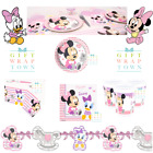 BABY MINNIE MOUSE AND DAISY DUCK PARTY SUPPLIES PLATES CUPS NAPKINS TABLECLOTH