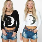 Women Letters Printed T-shirt Blouse Long Sleeve Casual Jumper Sweatshirt Top