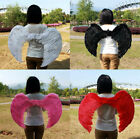 Adult Swan Feather Angel Wings Party Halloween Costume Fancy Dress Multicolor