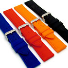 Croc Pattern Silicone Watch Strap Stainless Steel Buckle 18mm - 24mm C033