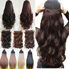 UK Stock Clip In Hair Extensions Half Full Head One Piece Synthetic Human Made