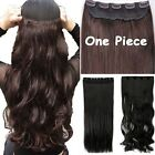 100%Thick 17-30 Inch 3/4 Full Head Clip In Hair Extensions,B