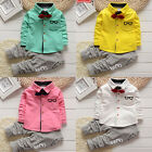 Toddler Baby Boy Kid Infant 2PCS Gentleman Shirts Tops+Pants Outfit Clothes Set