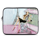 Zipper Sleeve Bag Cover - Cafe Paris - Fits Most Laptops + MacBooks