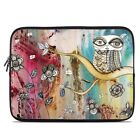 Zipper Sleeve Bag Cover - Surreal Owl by CCambrea - Fits Most Laptops + MacBooks