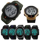Mens Sport Watch Multifunctional Military Waterproof Big Numbers Digital LED image
