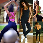 Femmes Gym Sport Fitness Yoga De Course Leggings Combinaison Athltique Jumpsuit