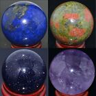 16mm 30mm 40mm Wholesale Lots Mix Natural Gemstone Sphere Crystal Ball Healing