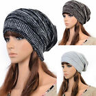Unisex Womens Plicate Knit Baggy Beanie Beret Winter Warm Ski Cap Slouch Hat UK