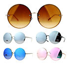 SA106 Unique Rimless Oversized Hippie Round Circle Lens Sunglasses