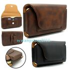 Premium PU Leather Card Slot Elastic Belt Clip Case Holster Cover for Cell Phone